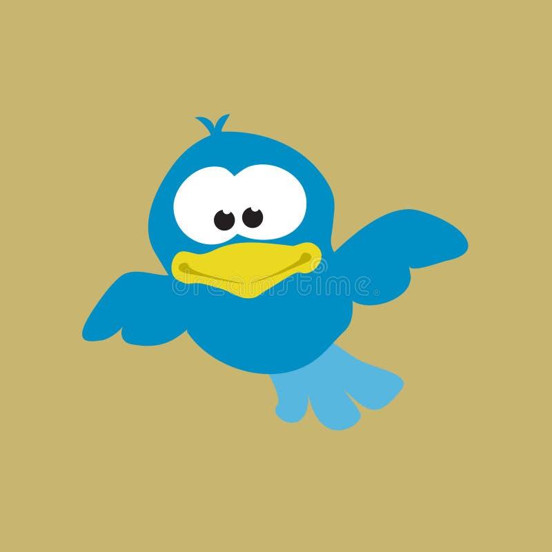 blått flyg för fågel royaltyfri illustrationer