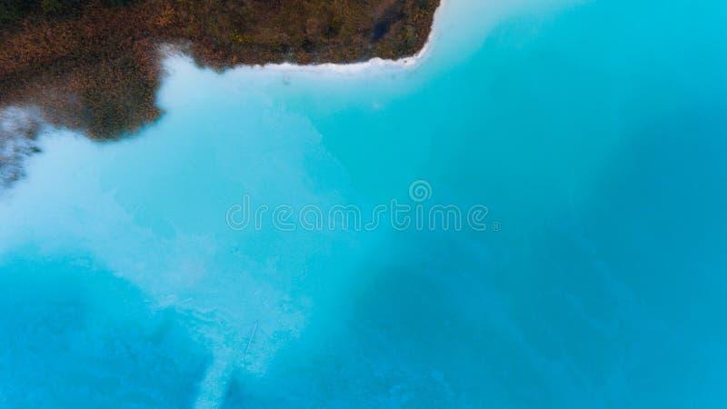 Blått fotografi för surr för bästa sikt för havkust arkivfoton