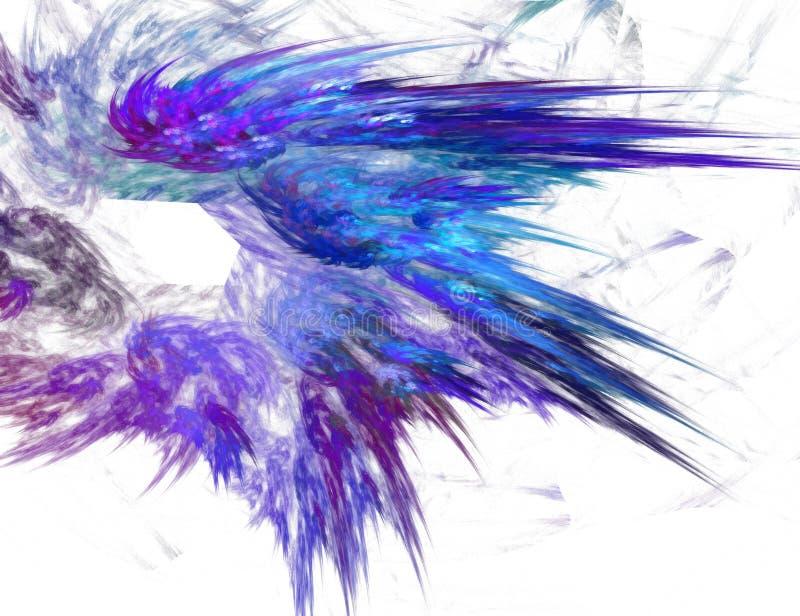 blått fractaldiagram stock illustrationer