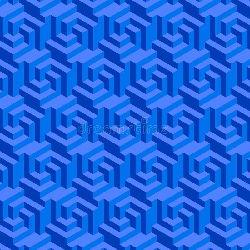 blått geometriskt för bakgrund vektor illustrationer