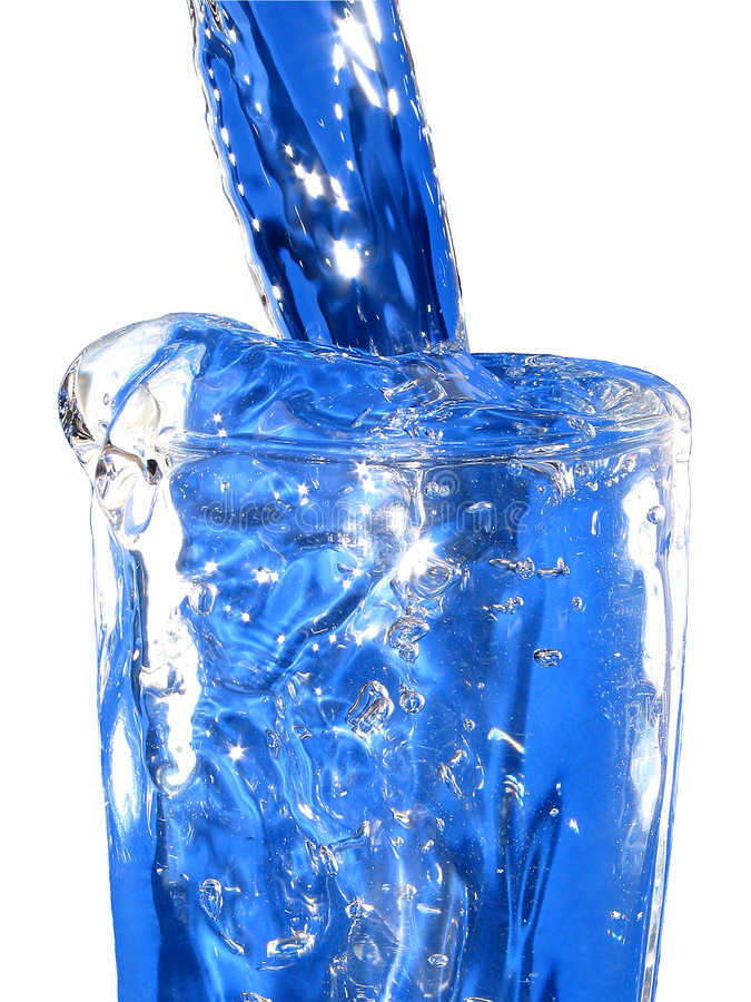 blått glasvatten royaltyfri foto