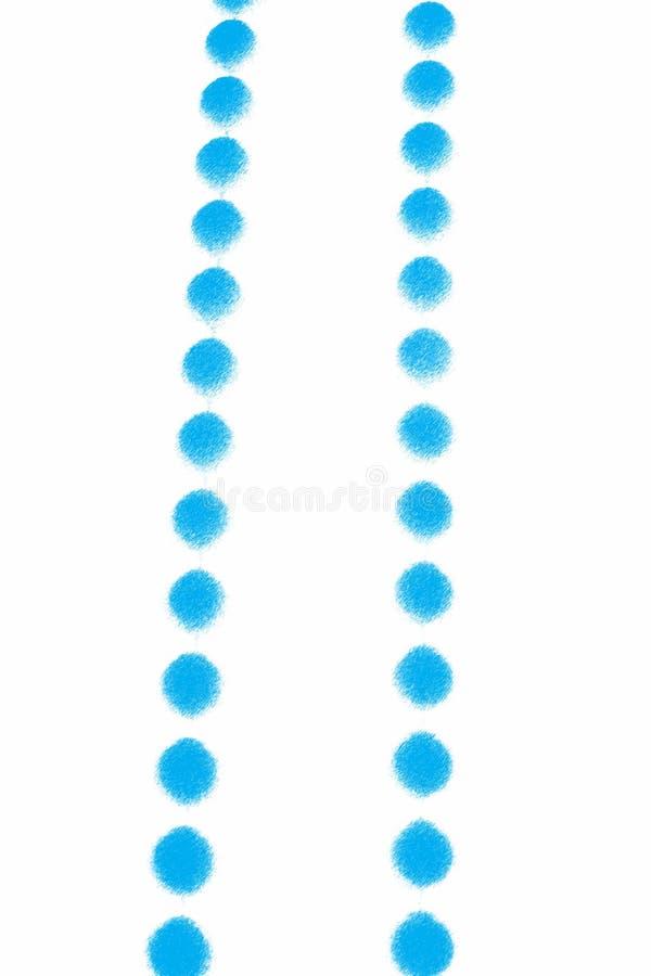 blått halsband stock illustrationer