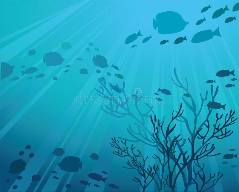 blått hav royaltyfri illustrationer