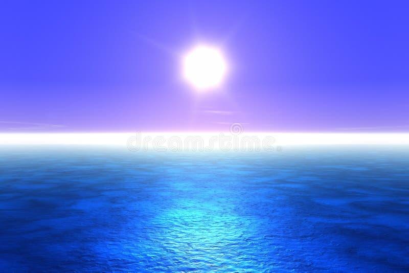 blått hav stock illustrationer