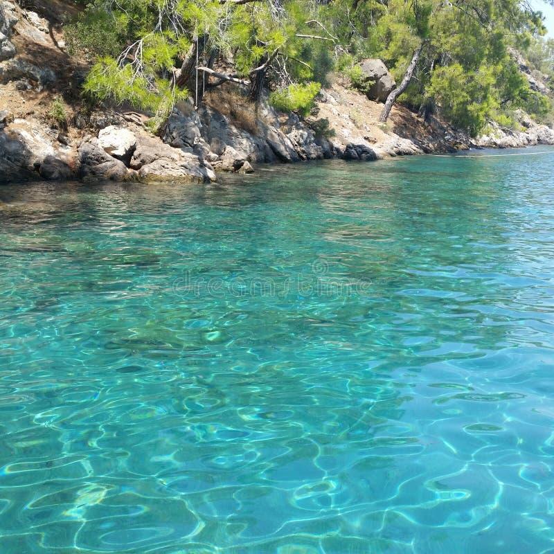 blått hav arkivbild
