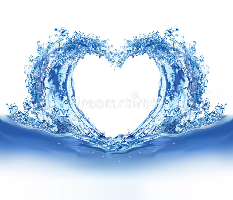 blått hjärtavatten stock illustrationer