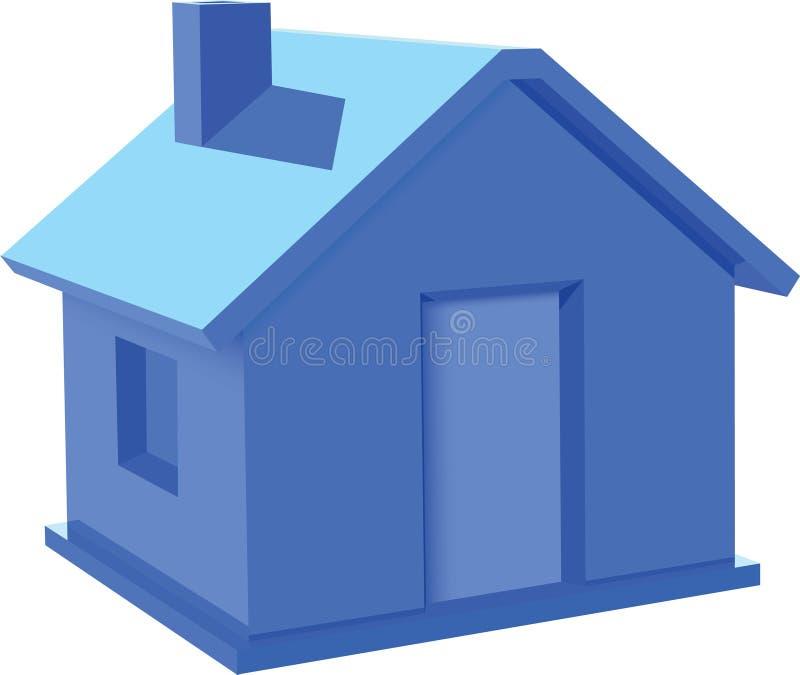blått hus vektor illustrationer