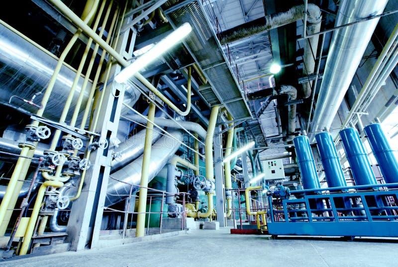 blått industriellt pipelinesstål tones zon arkivfoto
