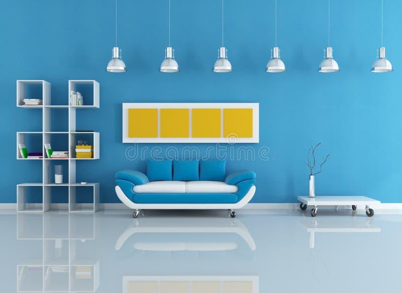 blått inre modernt stock illustrationer