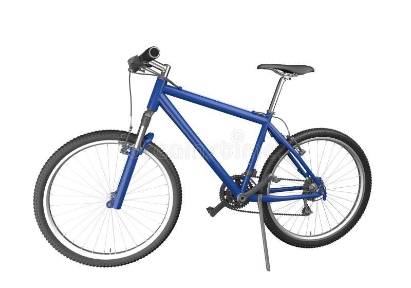 blått isolerat berg för cykel royaltyfri illustrationer