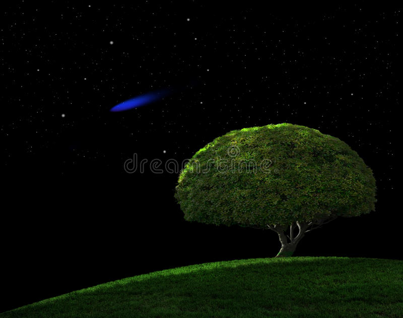 blått komet royaltyfri bild