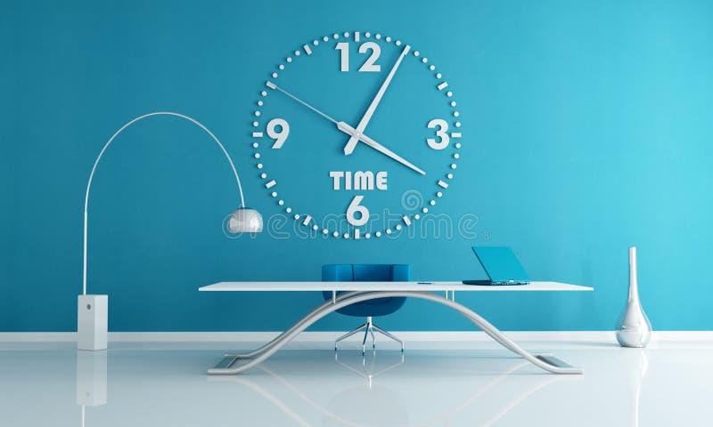 blått kontorsavstånd vektor illustrationer