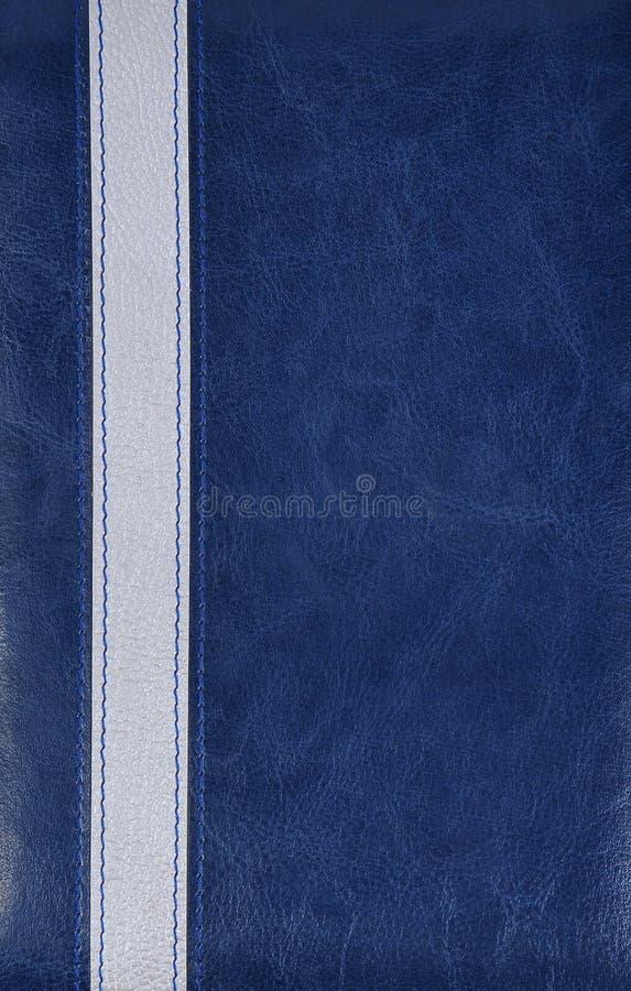 blått läder för bakgrund arkivfoton