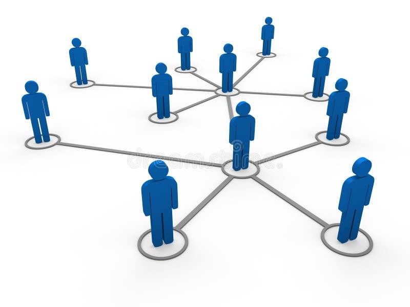 blått lag för nätverk 3d royaltyfri illustrationer