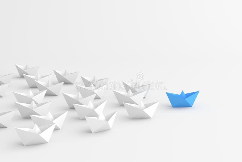 Blått ledarefartyg vektor illustrationer