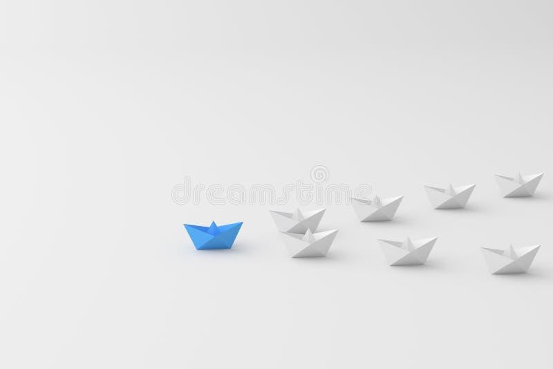 Blått ledarefartyg stock illustrationer