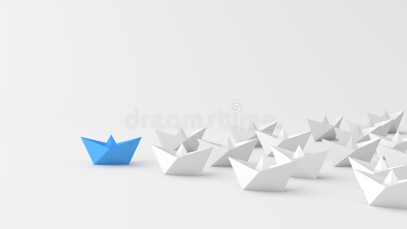 Blått ledarefartyg royaltyfri illustrationer