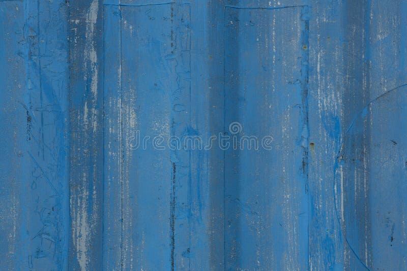 Blått målad wood bakgrund arkivfoto