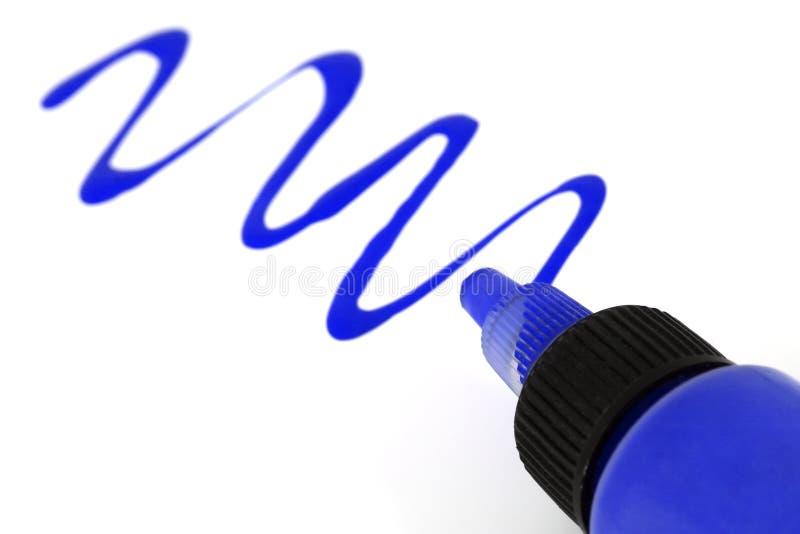 Blått målar arkivfoton