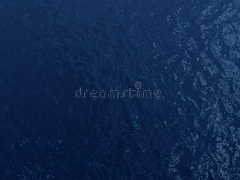 blått mörkt surface vatten vektor illustrationer