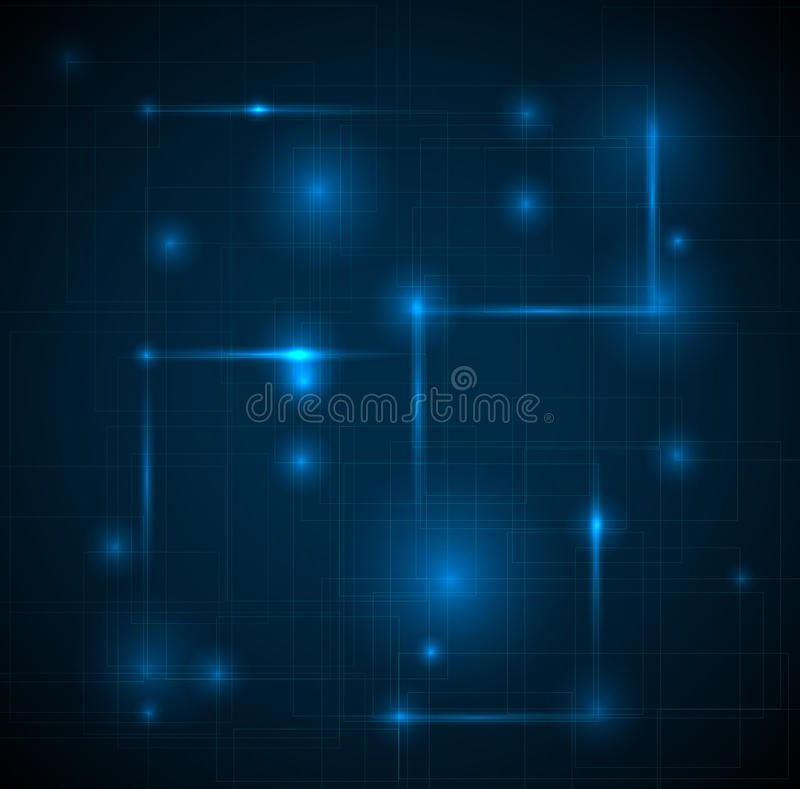 blått mörkt tekniskt för abstrakt bakgrund royaltyfri illustrationer