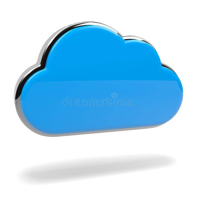 Blått moln royaltyfri illustrationer