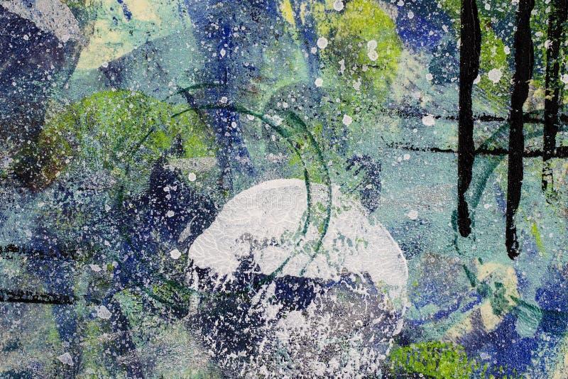 Blått och grönt texturerat abstrakt begrepp ytbehandlar bakgrund arkivfoto