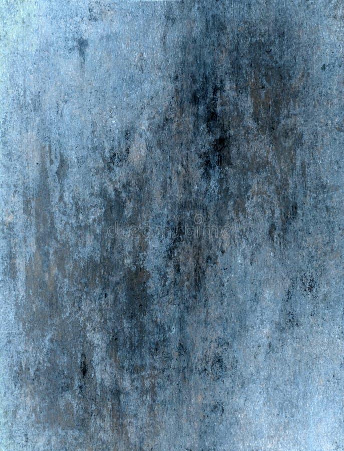 Blått och Grey Abstract Art Painting arkivfoton