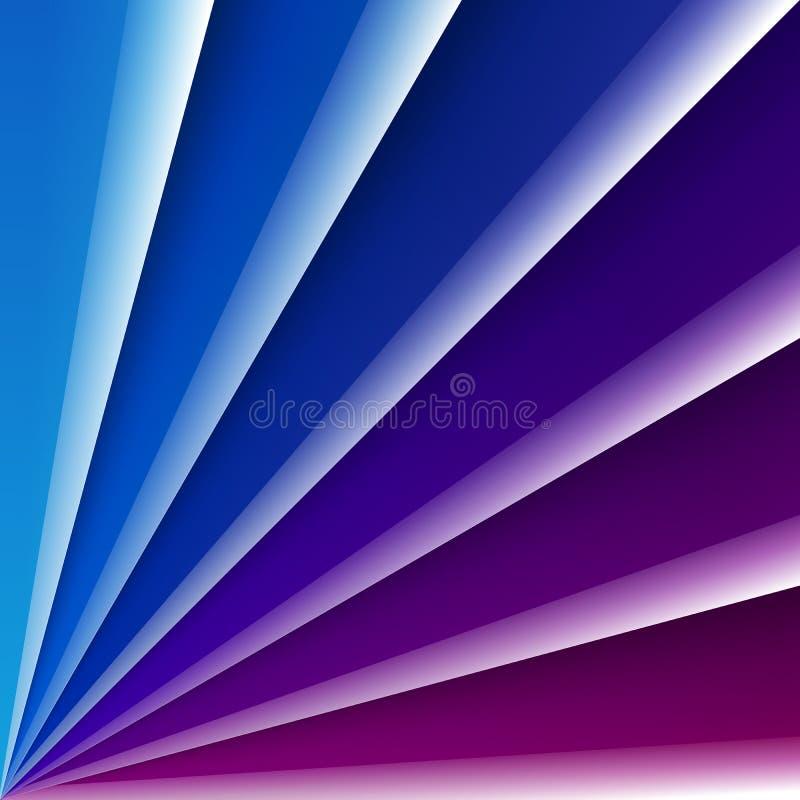 Blått och purpurfärgade skinande exponeringsglaslager med realistiskt royaltyfri illustrationer
