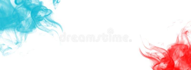 Blått och rött tema för rökbanerUSA royaltyfri illustrationer