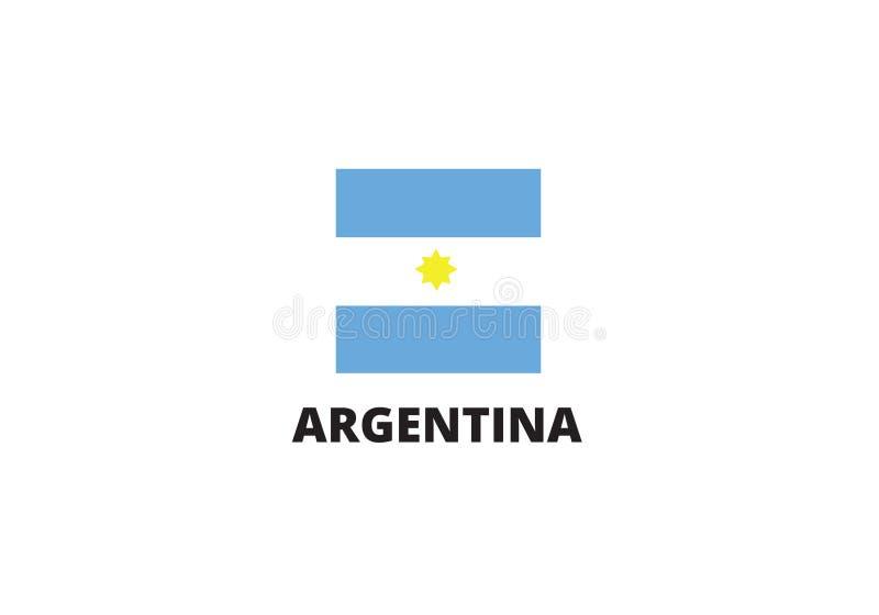 Blått och vit för himmel för Argentina nationsflaggauppsättning royaltyfri illustrationer