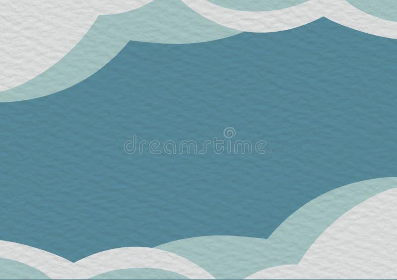 Blått och vitt papper för kopieringsutrymmebakgrund stock illustrationer