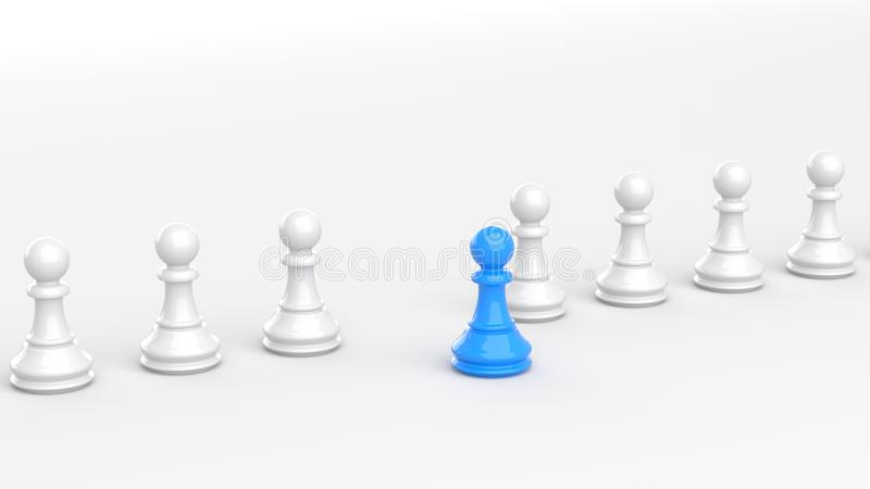 Blått pantsätter av schack royaltyfri illustrationer