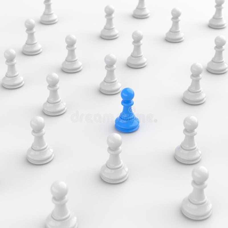 Blått pantsätter av schack vektor illustrationer