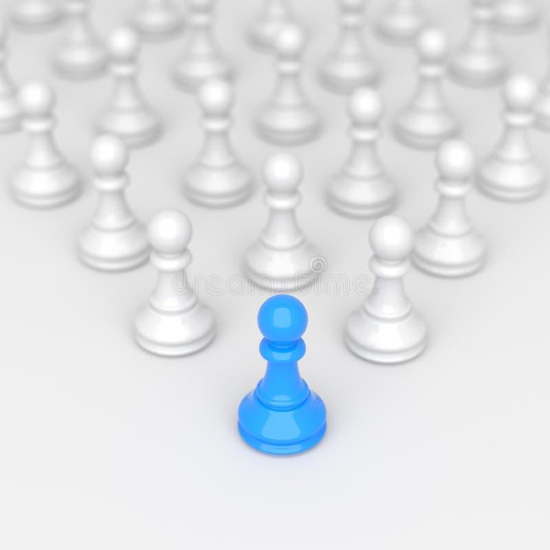 Blått pantsätter av schack stock illustrationer