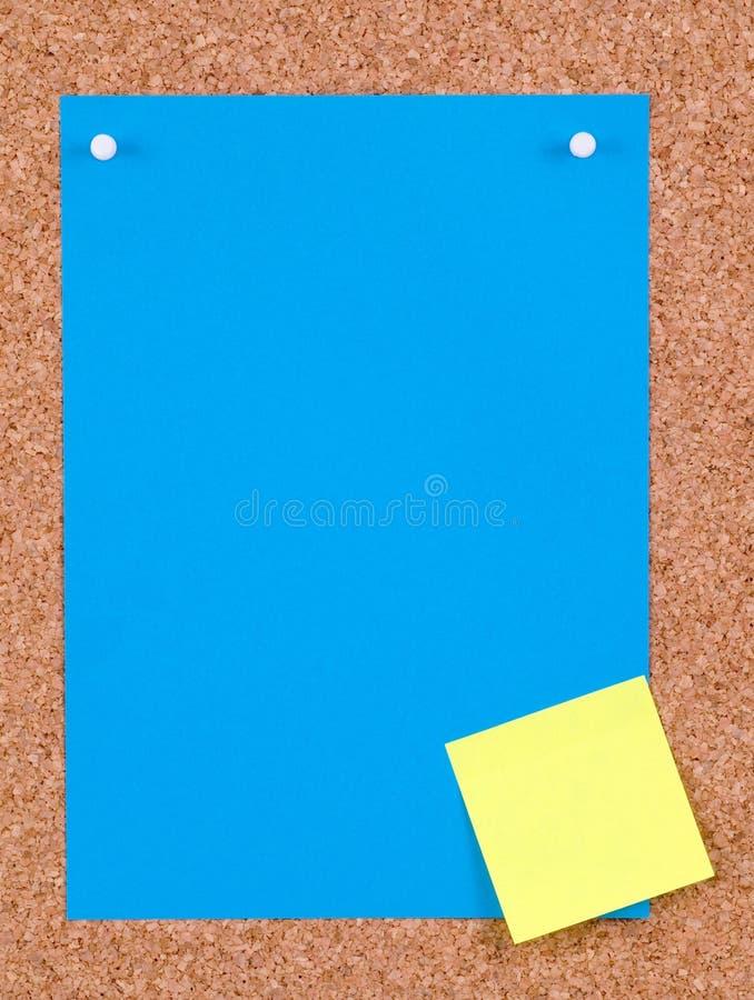 blått papper arkivbilder