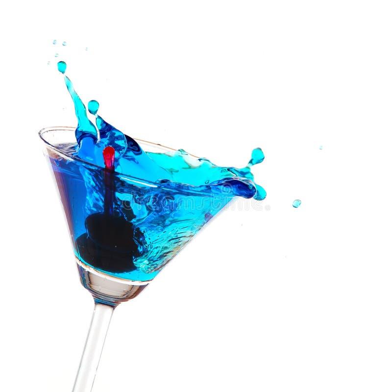 blått plaska för coctail arkivfoton