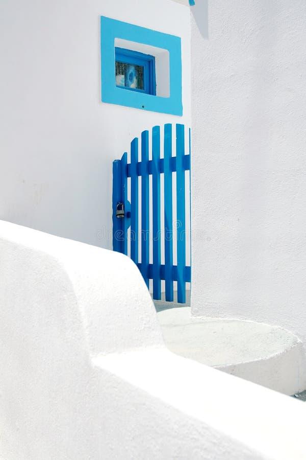 blått portfönster arkivbilder