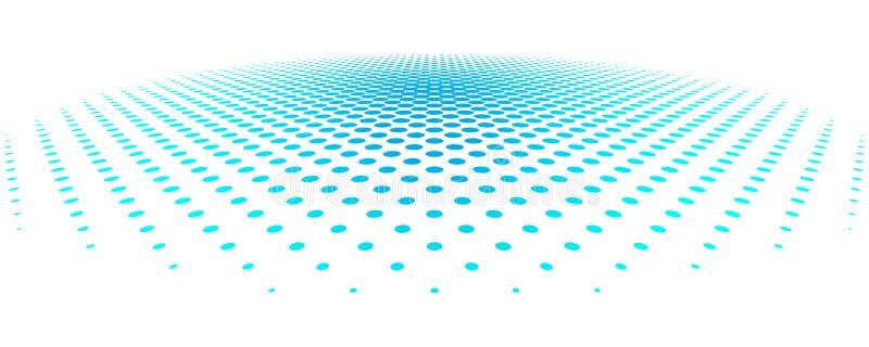 Blått pricker bakgrund i den rastrerade designen också vektor för coreldrawillustration royaltyfri illustrationer
