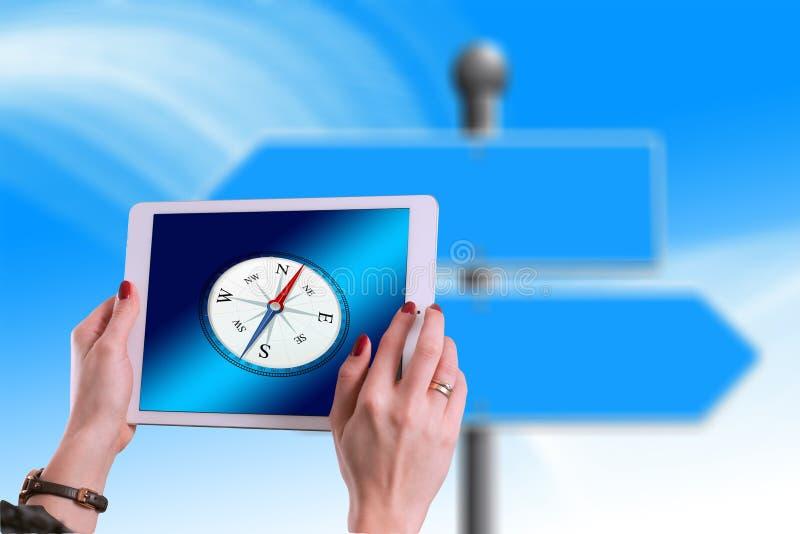 Blått produktdesign, kommunikation, online-annonsering royaltyfri foto