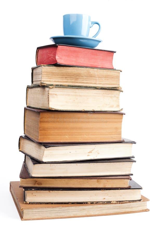 Blått rånar på böcker arkivbild