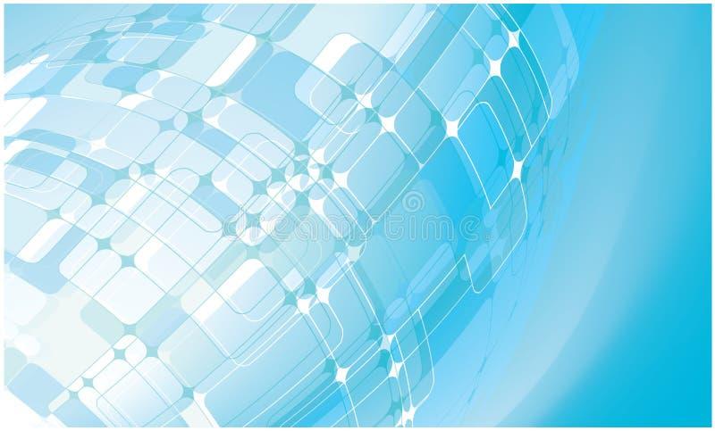 blått raket för abstrakt bakgrund vektor illustrationer