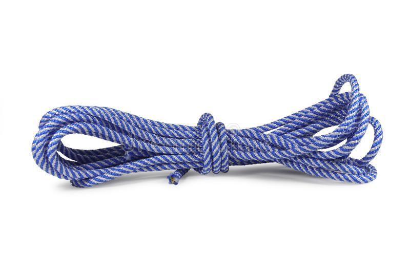 blått rep royaltyfri fotografi