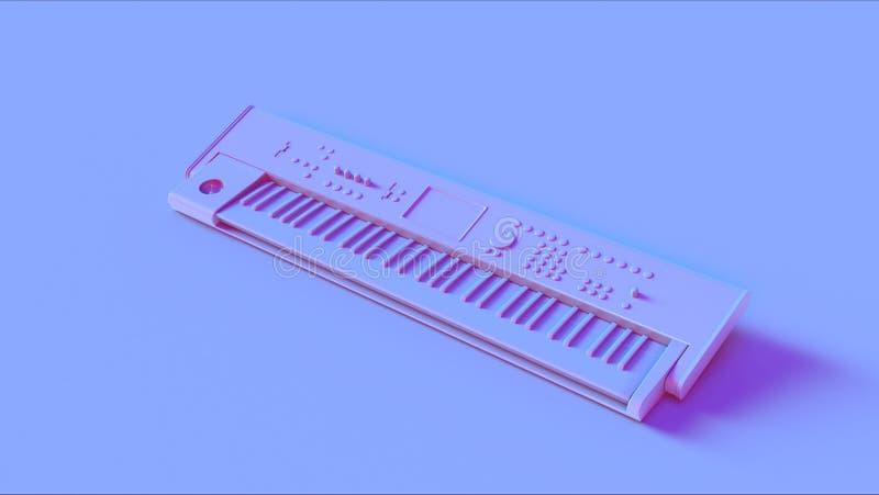 Blått rosa tangentbord arkivbilder