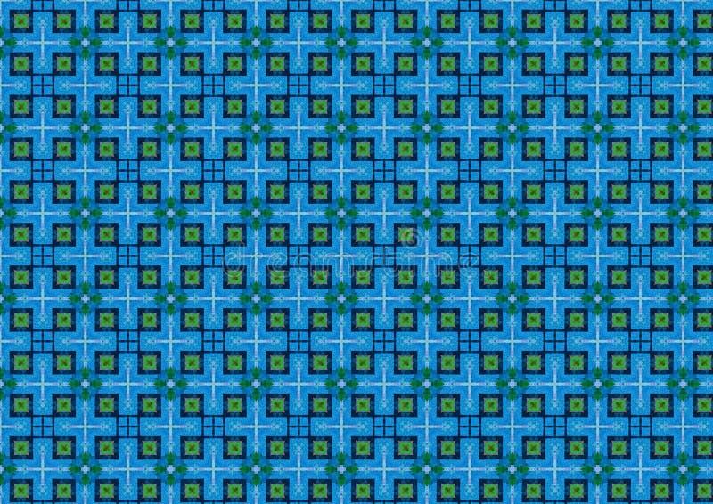 blått rutigt för bakgrund royaltyfri illustrationer