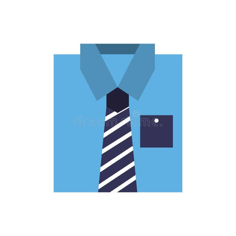 Blått skjortaklädermode vek vektor illustrationer