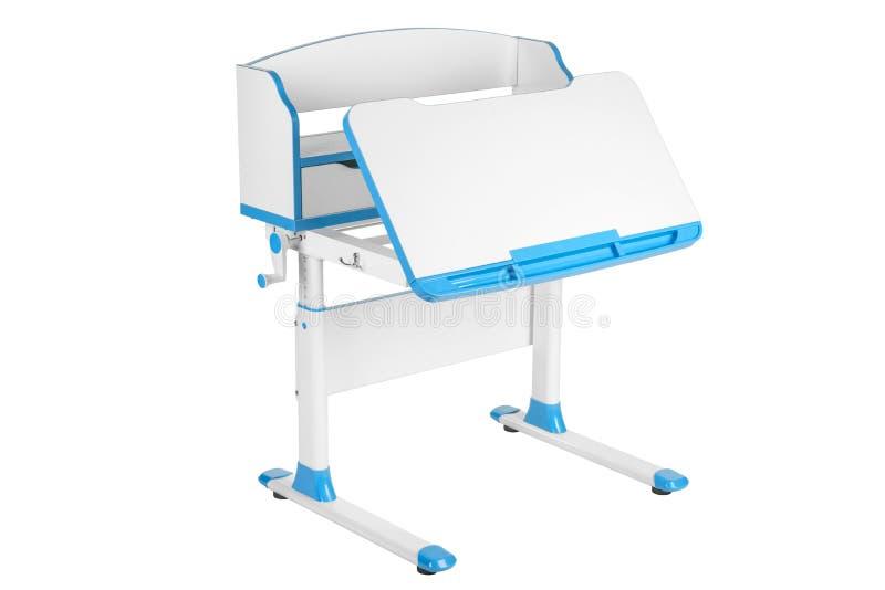 Blått skolaskrivbord vektor illustrationer