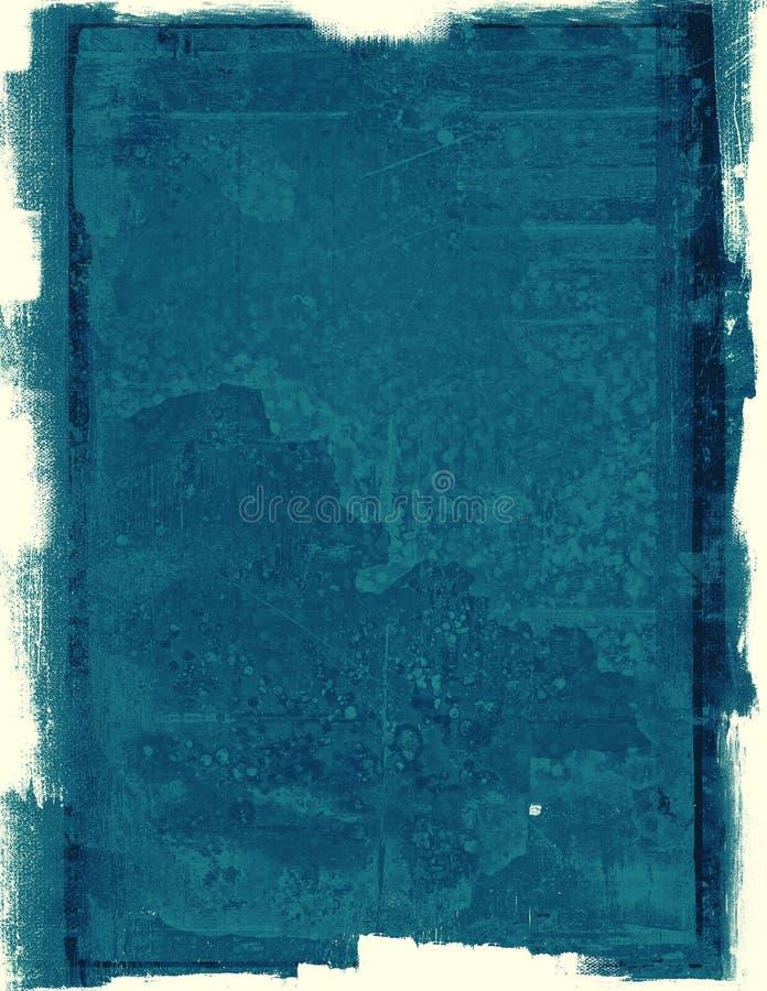 Blått skyler över brister grungebakgrund stock illustrationer