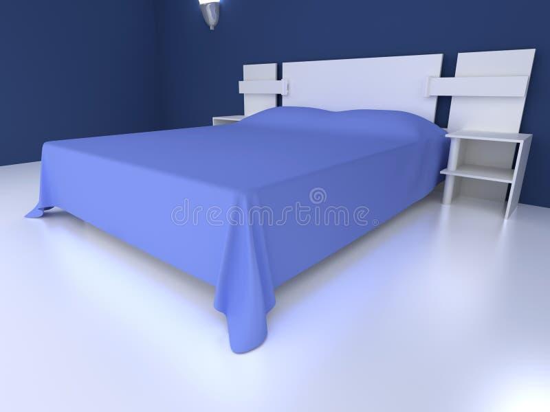 Blått sovrum vektor illustrationer