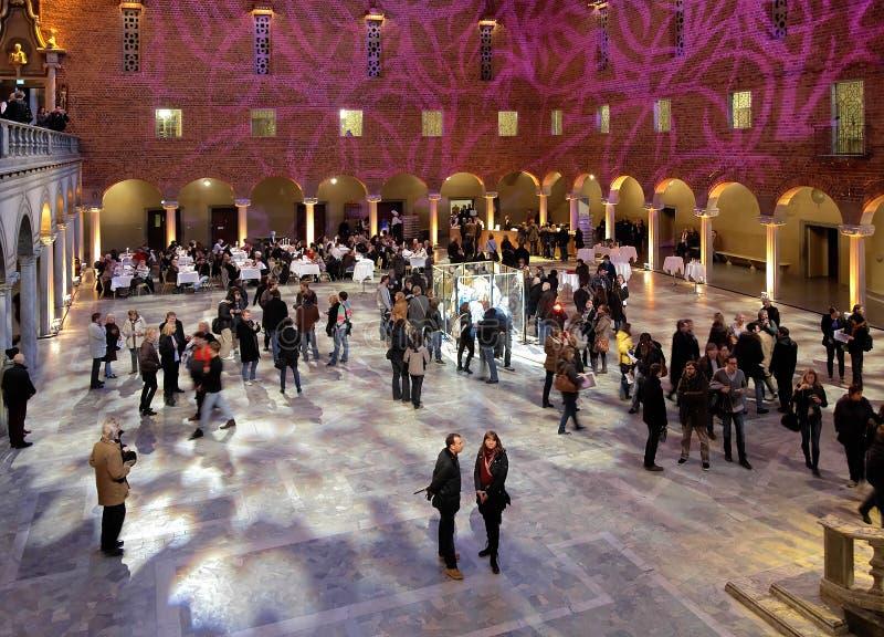 blått stadshus stockholm royaltyfri foto